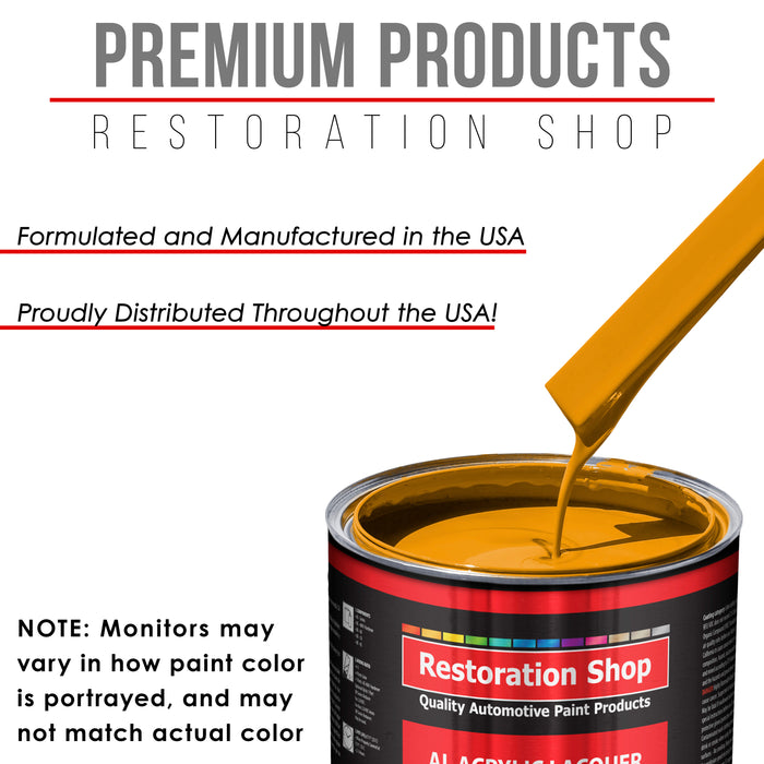 School Bus Yellow - Acrylic Lacquer Auto Paint - Quart Paint Color Only - Professional Gloss Automotive, Car, Truck, Guitar & Furniture Refinish Coating
