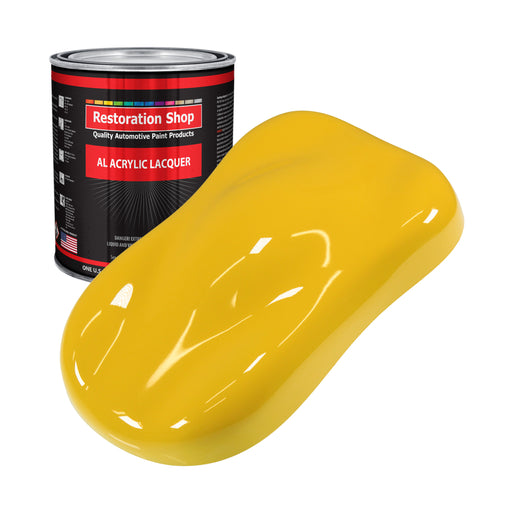 Indy Yellow - Acrylic Lacquer Auto Paint - Gallon Paint Color Only - Professional Gloss Automotive, Car, Truck, Guitar & Furniture Refinish Coating