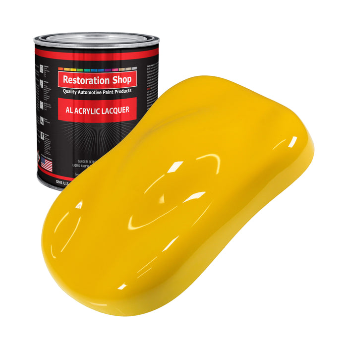 Viper Yellow - Acrylic Lacquer Auto Paint - Gallon Paint Color Only - Professional Gloss Automotive, Car, Truck, Guitar & Furniture Refinish Coating