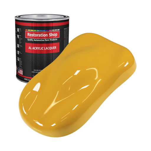 Citrus Yellow - Acrylic Lacquer Auto Paint - Gallon Paint Color Only - Professional Gloss Automotive, Car, Truck, Guitar & Furniture Refinish Coating