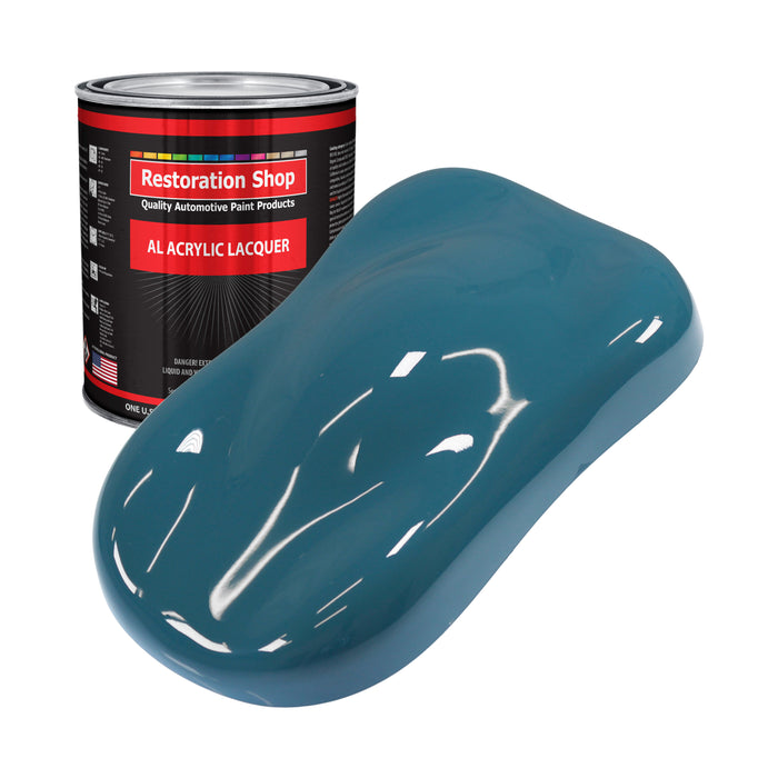 Medium Blue - Acrylic Lacquer Auto Paint - Gallon Paint Color Only - Professional Gloss Automotive, Car, Truck, Guitar & Furniture Refinish Coating