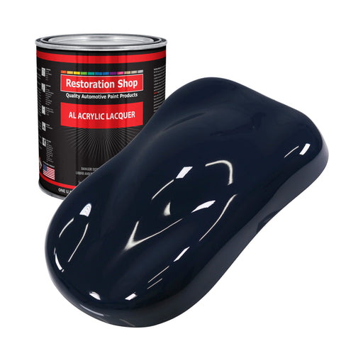 Midnight Blue - Acrylic Lacquer Auto Paint - Gallon Paint Color Only - Professional Gloss Automotive, Car, Truck, Guitar & Furniture Refinish Coating