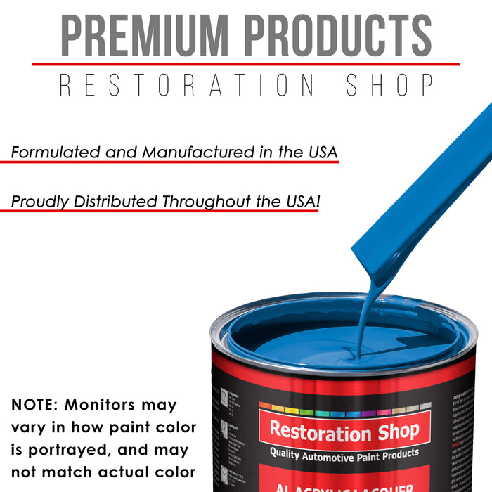 Speed Blue - Acrylic Lacquer Auto Paint - Gallon Paint Color Only - Professional Gloss Automotive, Car, Truck, Guitar & Furniture Refinish Coating