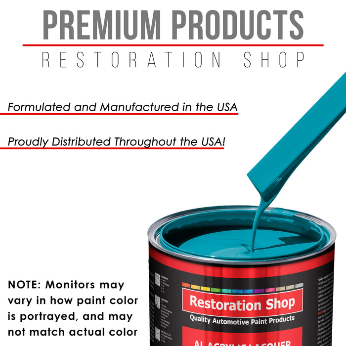 Petty Blue - Acrylic Lacquer Auto Paint - Complete Quart Paint Kit with Medium Thinner - Professional Gloss Automotive, Car, Truck, Guitar and Furniture Refinish Coating