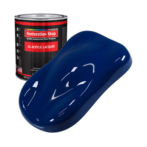 Marine Blue - Acrylic Lacquer Auto Paint - Gallon Paint Color Only - Professional Gloss Automotive, Car, Truck, Guitar & Furniture Refinish Coating
