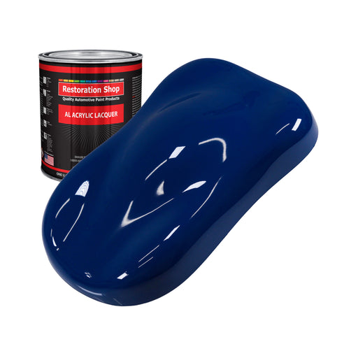 Marine Blue - Acrylic Lacquer Auto Paint - Quart Paint Color Only - Professional Gloss Automotive, Car, Truck, Guitar & Furniture Refinish Coating