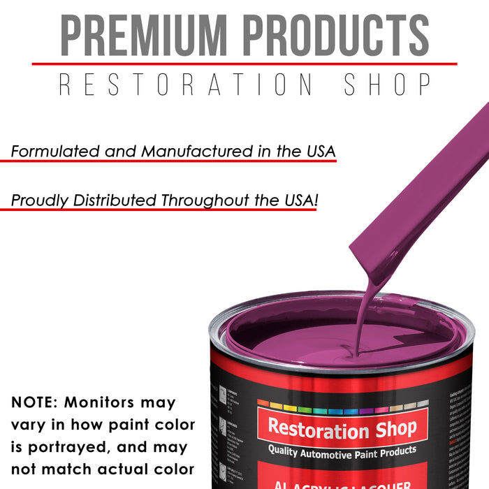 Magenta - Acrylic Lacquer Auto Paint - Complete Gallon Paint Kit with Medium Thinner - Professional Gloss Automotive, Car, Truck, Guitar & Furniture Refinish Coating