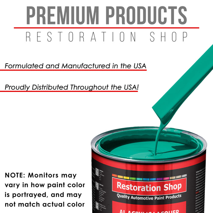 Tropical Turquoise - Acrylic Lacquer Auto Paint - Quart Paint Color Only - Professional Gloss Automotive, Car, Truck, Guitar & Furniture Refinish Coating