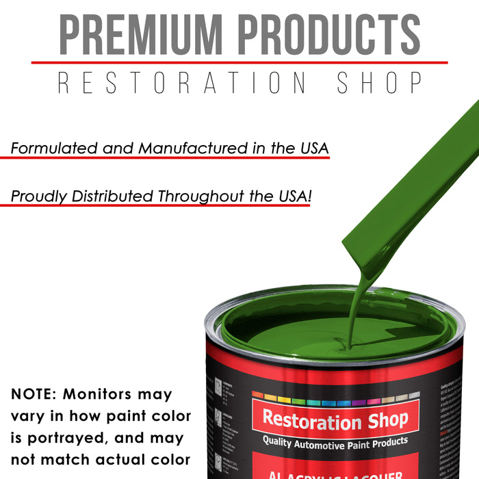 Deere Green - Acrylic Lacquer Auto Paint - Complete Quart Paint Kit with Medium Thinner - Professional Gloss Automotive, Car, Truck, Guitar and Furniture Refinish Coating