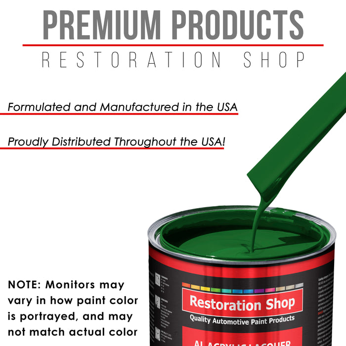Emerald Green - Acrylic Lacquer Auto Paint - Complete Gallon Paint Kit with Medium Thinner - Professional Gloss Automotive, Car, Truck, Guitar & Furniture Refinish Coating