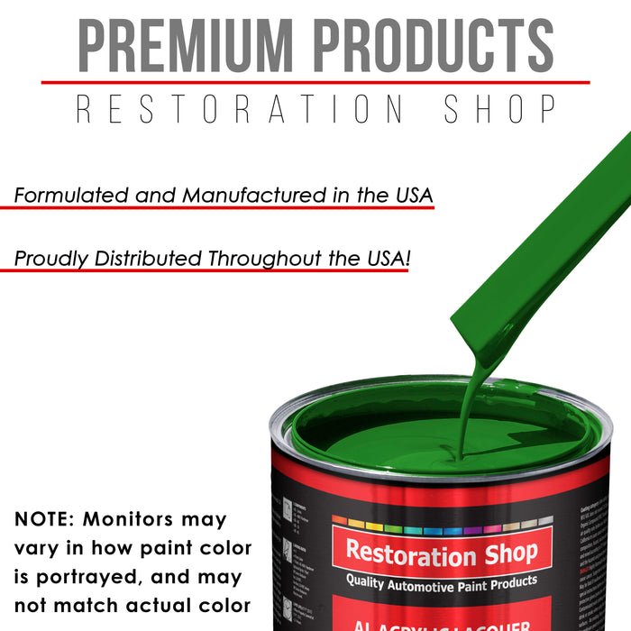 Vibrant Lime Green - Acrylic Lacquer Auto Paint - Complete Quart Paint Kit with Medium Thinner - Professional Gloss Automotive, Car, Truck, Guitar and Furniture Refinish Coating