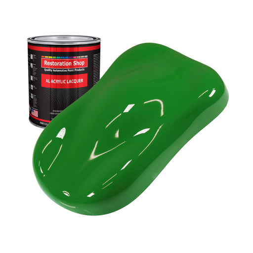Vibrant Lime Green - Acrylic Lacquer Auto Paint - Quart Paint Color Only - Professional Gloss Automotive, Car, Truck, Guitar & Furniture Refinish Coating