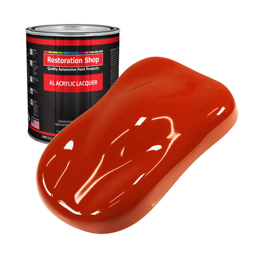 Hot Rod Red - Acrylic Lacquer Auto Paint - Gallon Paint Color Only - Professional Gloss Automotive, Car, Truck, Guitar & Furniture Refinish Coating