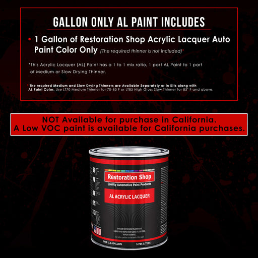 Graphic Red - Acrylic Lacquer Auto Paint - Gallon Paint Color Only - Professional Gloss Automotive, Car, Truck, Guitar & Furniture Refinish Coating