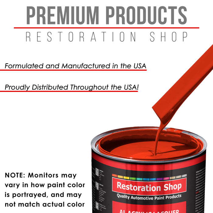 Monza Red - Acrylic Lacquer Auto Paint - Complete Gallon Paint Kit with Medium Thinner - Professional Gloss Automotive, Car, Truck, Guitar & Furniture Refinish Coating
