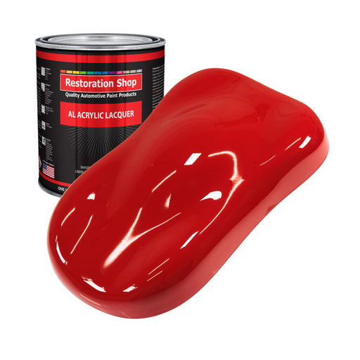 Rally Red - Acrylic Lacquer Auto Paint - Gallon Paint Color Only - Professional Gloss Automotive, Car, Truck, Guitar & Furniture Refinish Coating