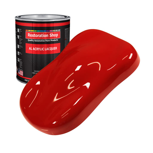 Pro Street Red - Acrylic Lacquer Auto Paint - Gallon Paint Color Only - Professional Gloss Automotive, Car, Truck, Guitar & Furniture Refinish Coating