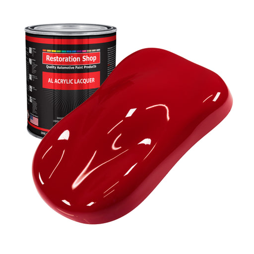 Quarter Mile Red - Acrylic Lacquer Auto Paint - Gallon Paint Color Only - Professional Gloss Automotive, Car, Truck, Guitar & Furniture Refinish Coating