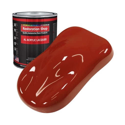Scarlet Red - Acrylic Lacquer Auto Paint - Gallon Paint Color Only - Professional Gloss Automotive, Car, Truck, Guitar & Furniture Refinish Coating