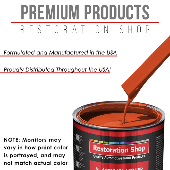 Charger Orange - Acrylic Lacquer Auto Paint - Complete Quart Paint Kit with Medium Thinner - Professional Gloss Automotive, Car, Truck, Guitar and Furniture Refinish Coating