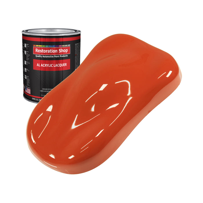 Charger Orange - Acrylic Lacquer Auto Paint - Quart Paint Color Only - Professional Gloss Automotive, Car, Truck, Guitar & Furniture Refinish Coating