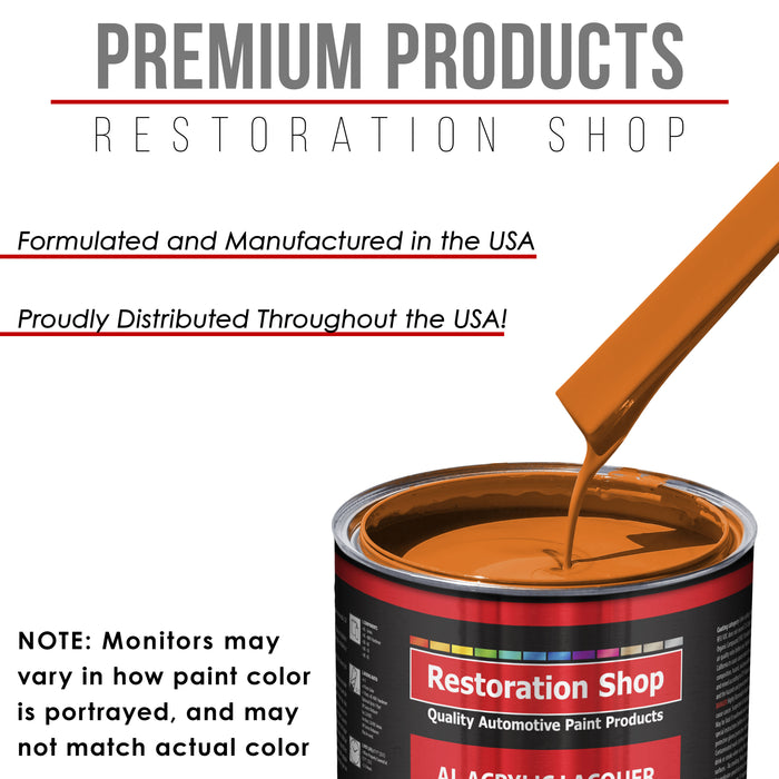 California Orange - Acrylic Lacquer Auto Paint - Complete Gallon Paint Kit with Slow Dry Thinner - Professional Gloss Automotive, Car, Truck, Guitar, Furniture Refinish Coating