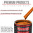 Omaha Orange - Acrylic Lacquer Auto Paint - Complete Quart Paint Kit with Medium Thinner - Professional Gloss Automotive, Car, Truck, Guitar and Furniture Refinish Coating