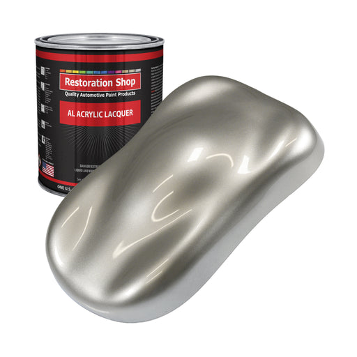 Pewter Silver Metallic - Acrylic Lacquer Auto Paint - Gallon Paint Color Only - Professional Gloss Automotive, Car, Truck, Guitar & Furniture Refinish Coating