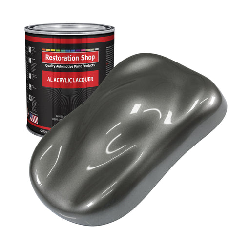 Dark Charcoal Metallic - Acrylic Lacquer Auto Paint - Gallon Paint Color Only - Professional Gloss Automotive, Car, Truck, Guitar & Furniture Refinish Coating