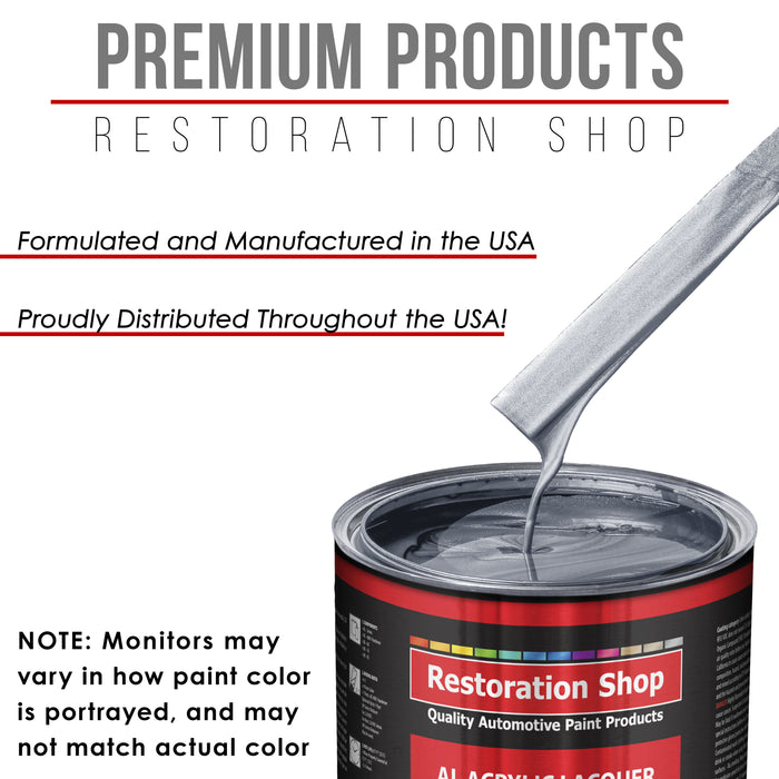 Cool Gray Metallic - Acrylic Lacquer Auto Paint - Complete Gallon Paint Kit with Slow Dry Thinner - Professional Gloss Automotive, Car, Truck, Guitar, Furniture Refinish Coating