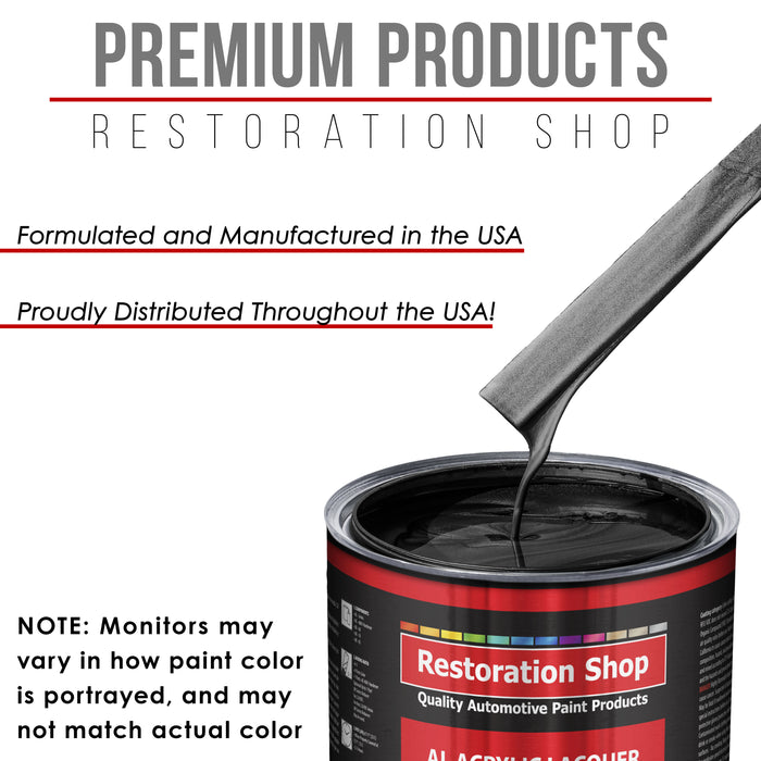 Black Sparkle Metallic - Acrylic Lacquer Auto Paint - Complete Gallon Paint Kit with Slow Dry Thinner - Professional Gloss Automotive, Car, Truck, Guitar, Furniture Refinish Coating