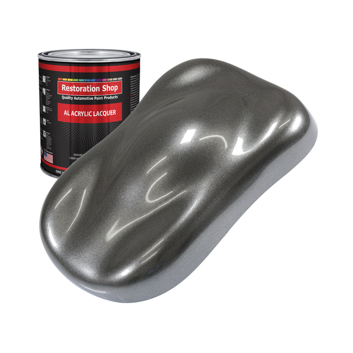 Meteor Gray Metallic - Acrylic Lacquer Auto Paint - Quart Paint Color Only - Professional Gloss Automotive, Car, Truck, Guitar & Furniture Refinish Coating