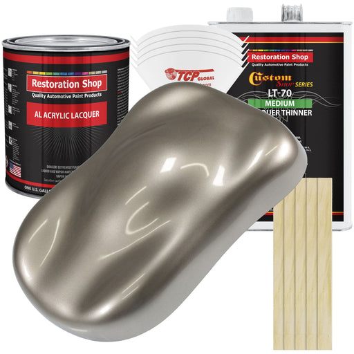 Arizona Bronze Metallic - Acrylic Lacquer Auto Paint - Complete Gallon Paint Kit with Medium Thinner - Professional Gloss Automotive, Car, Truck, Guitar & Furniture Refinish Coating