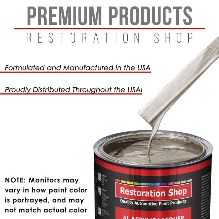 Mocha Frost Metallic - Acrylic Lacquer Auto Paint - Complete Gallon Paint Kit with Slow Dry Thinner - Professional Gloss Automotive, Car, Truck, Guitar, Furniture Refinish Coating