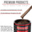 Mahogany Brown Metallic - Acrylic Lacquer Auto Paint - Complete Gallon Paint Kit with Slow Dry Thinner - Professional Gloss Automotive, Car, Truck, Guitar, Furniture Refinish Coating