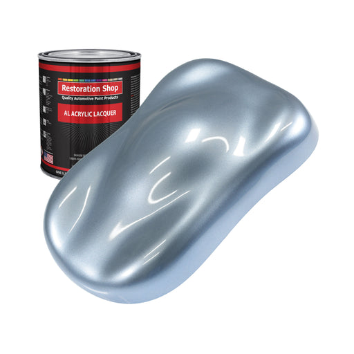 Glacier Blue Metallic - Acrylic Lacquer Auto Paint - Quart Paint Color Only - Professional Gloss Automotive, Car, Truck, Guitar & Furniture Refinish Coating