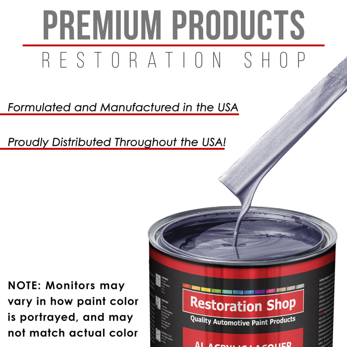 Astro Blue Metallic - Acrylic Lacquer Auto Paint - Gallon Paint Color Only - Professional Gloss Automotive, Car, Truck, Guitar & Furniture Refinish Coating