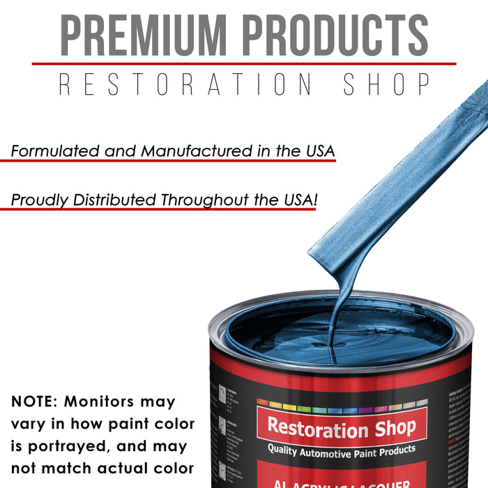 Cruise Night Blue Metallic - Acrylic Lacquer Auto Paint - Complete Gallon Paint Kit with Slow Dry Thinner - Professional Gloss Automotive, Car, Truck, Guitar, Furniture Refinish Coating