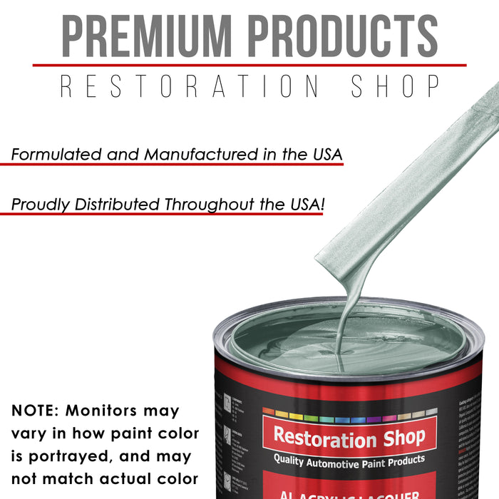 Frost Green Metallic - Acrylic Lacquer Auto Paint - Gallon Paint Color Only - Professional Gloss Automotive, Car, Truck, Guitar & Furniture Refinish Coating