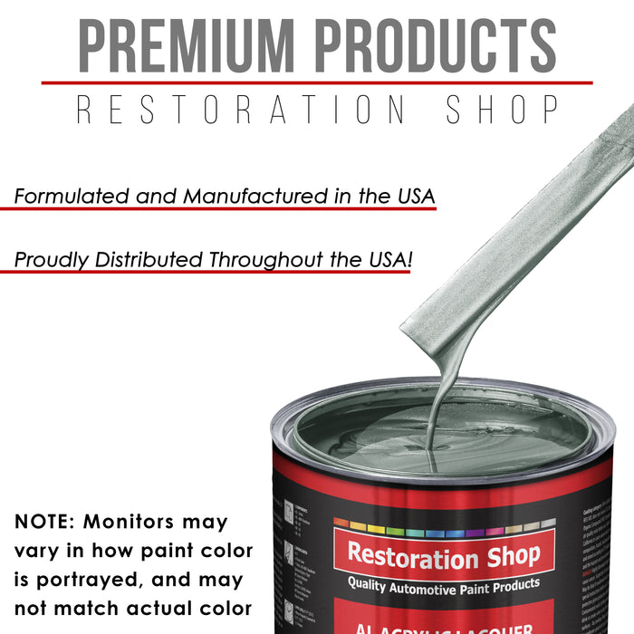 Steel Gray Metallic - Acrylic Lacquer Auto Paint - Complete Gallon Paint Kit with Slow Dry Thinner - Professional Gloss Automotive, Car, Truck, Guitar, Furniture Refinish Coating