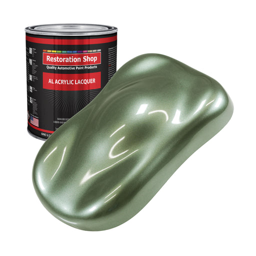 Fern Green Metallic - Acrylic Lacquer Auto Paint - Gallon Paint Color Only - Professional Gloss Automotive, Car, Truck, Guitar & Furniture Refinish Coating