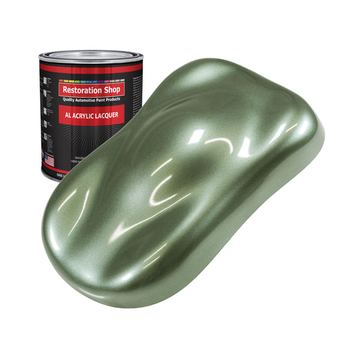 Fern Green Metallic - Acrylic Lacquer Auto Paint - Quart Paint Color Only - Professional Gloss Automotive, Car, Truck, Guitar & Furniture Refinish Coating
