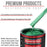 Rally Green Metallic - Acrylic Lacquer Auto Paint - Complete Quart Paint Kit with Medium Thinner - Professional Gloss Automotive, Car, Truck, Guitar and Furniture Refinish Coating
