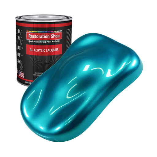 Teal Green Metallic - Acrylic Lacquer Auto Paint - Gallon Paint Color Only - Professional Gloss Automotive, Car, Truck, Guitar & Furniture Refinish Coating