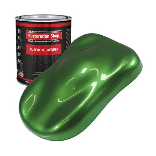 Gasser Green Metallic - Acrylic Lacquer Auto Paint - Gallon Paint Color Only - Professional Gloss Automotive, Car, Truck, Guitar & Furniture Refinish Coating