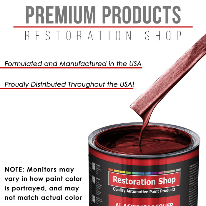 Fire Red Pearl - Acrylic Lacquer Auto Paint - Complete Gallon Paint Kit with Slow Dry Thinner - Professional Gloss Automotive, Car, Truck, Guitar, Furniture Refinish Coating