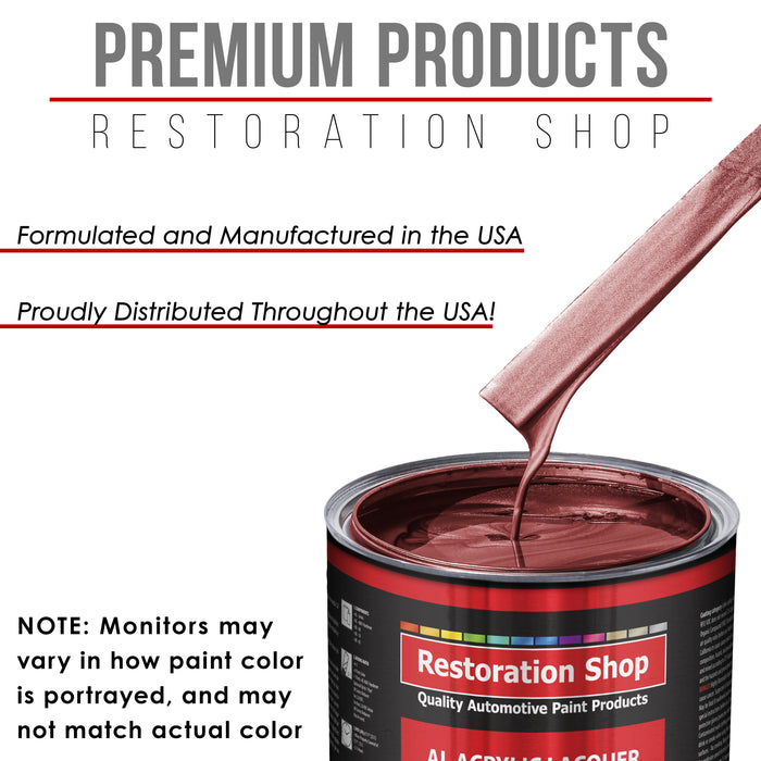 Candy Apple Red Metallic - Acrylic Lacquer Auto Paint - Gallon Paint Color Only - Professional Gloss Automotive, Car, Truck, Guitar & Furniture Refinish Coating
