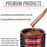 Whole Earth Brown Firemist - Acrylic Lacquer Auto Paint - Complete Quart Paint Kit with Medium Thinner - Professional Gloss Automotive, Car, Truck, Guitar and Furniture Refinish Coating