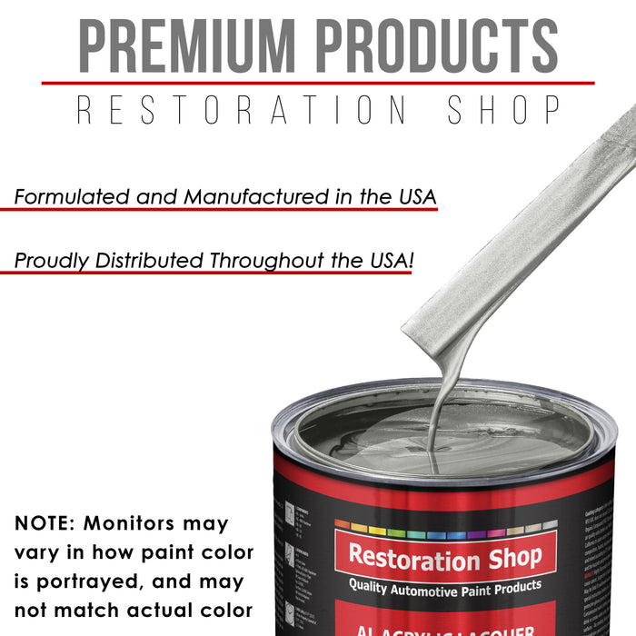 Brilliant Silver Firemist - Acrylic Lacquer Auto Paint - Complete Quart Paint Kit with Medium Thinner - Professional Gloss Automotive, Car, Truck, Guitar and Furniture Refinish Coating