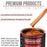 Firemist Orange - Acrylic Lacquer Auto Paint - Complete Gallon Paint Kit with Medium Thinner - Professional Gloss Automotive, Car, Truck, Guitar & Furniture Refinish Coating